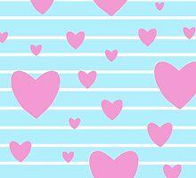 Vintage candy stripes pink heart case by bardenne