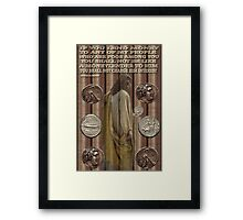 ☝ ☞ ROMAN ASSARIAN BIBLICAL COINS WITH SCRIPTURE☝ ☞  Framed Print