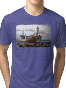 Today we hunt dragons! Tri-blend T-Shirt