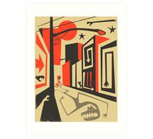Little Red, Big City Art Print