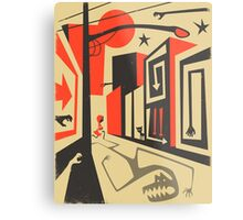 Little Red, Big City Metal Print