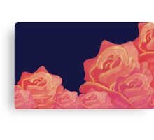 Chinoiserie Red Roses Vintage floral print Canvas Print