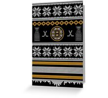 Ugly Boston Sweater Greeting Card
