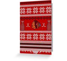 Hawksmas Sweater Greeting Card