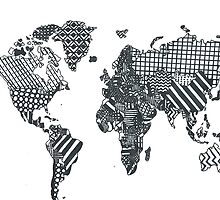 Patterned World Map by luckylucy