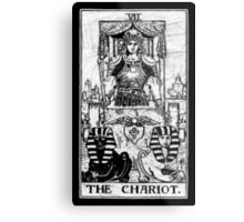 The Chariot Tarot Card - Major Arcana - fortune telling - occult Metal Print
