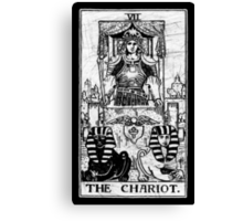 The Chariot Tarot Card - Major Arcana - fortune telling - occult Canvas Print