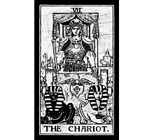 The Chariot Tarot Card - Major Arcana - fortune telling - occult Photographic Print