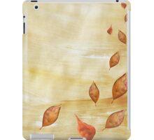 Autumn falling Gold leaves iPad Case/Skin