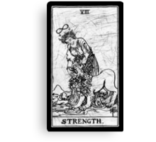 Strength Tarot Card - Major Arcana - fortune telling - occult Canvas Print