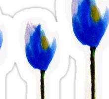 Blue tulip flowers Sticker