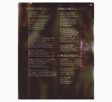 029 - Scattered Resistance -  Poetry Full Page Baby Tee
