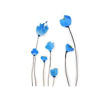 Bright blue flowers by bardenne