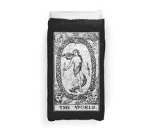The World Tarot Card - Major Arcana - fortune telling - occult Duvet Cover