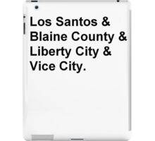 Cities of GTA T-Shirt iPad Case/Skin
