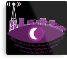 Night Vale Community Radio Metal Print