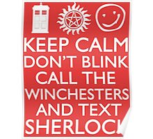SUPERWHOLOCK SUPERNATURAL DOCTOR WHO SHERLOCK Poster