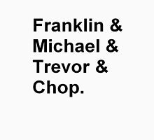 Franklin, Michael, Trevor and Chop from GTA T-Shirt