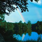 Rainbow over Dunn's Pond by Deborah-Jean McGonigal