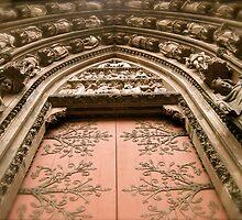 Strasbourg Cathedral - Door by Pamela Maxwell