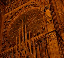 Strasbourg Cathedral - Grand Window by Pamela Maxwell
