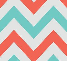 Chevrons design - grey, green & red by opul