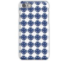 blue flower pattern iPhone Case/Skin