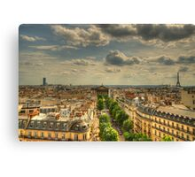 Paris Vista Canvas Print