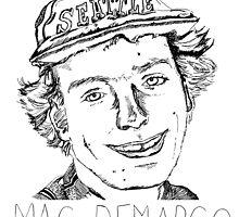 Mac Demarco Portrait illustration  by deedoubleyoo
