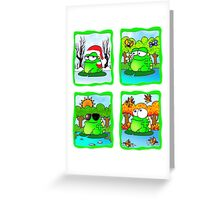 Frog For All Seasons Greeting Card