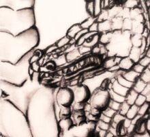 Dragon in Jar Sticker