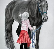 """""""Saying Goodbye to a Unicorn"""" by SD 2010 Photography & Equine Art Creations"""