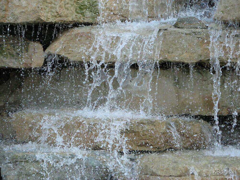 Manmade Waterfall by KBdigital