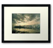 Antarctic Sunset Framed Print