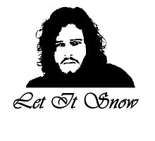 Let It Snow-Jon Snow Photographic Print