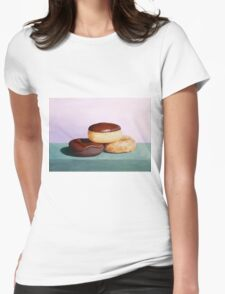 Stacked Donuts Womens Fitted T-Shirt