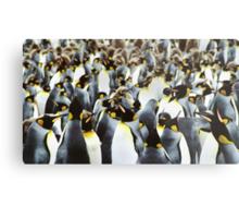 Penguin Power Metal Print