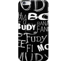 JUDY - The name game Remake White version iPhone Case/Skin