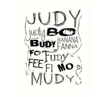 JUDY - THE name game Remake Black version Art Print