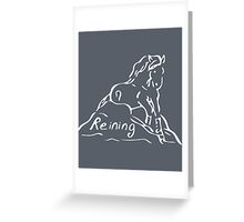 Reining Horse White Greeting Card