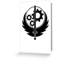 Brotherhood of Steel Logo T-Shirt Greeting Card