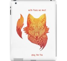Fox Zentangle - with foxes we must play the fox iPad Case/Skin