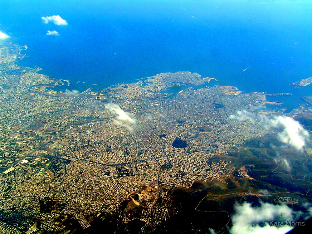 Athens from the Air by Kara Morris