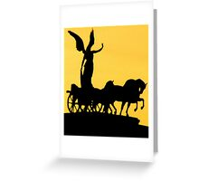 Angels in Chariots Greeting Card