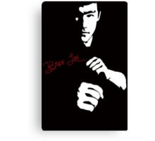 Stencil Bruce Lee The Dragon Awaits Canvas Print