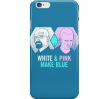White & Pink Make Blue iPhone Case/Skin