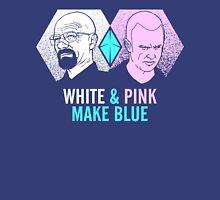 White & Pink Make Blue Unisex T-Shirt