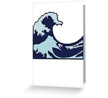 Wave Emoji Greeting Card