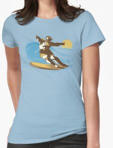 God Surfed Womens Fitted T-Shirt