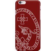 Viking Rune Stone (Dark bg, white lines) iPhone Case/Skin